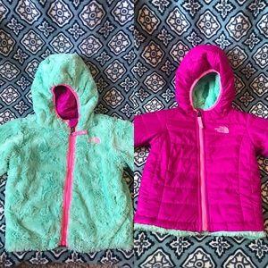 North Face Toddler Girls 2-3T Reversible Jacket